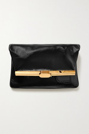 Pm Leather Clutch - Black