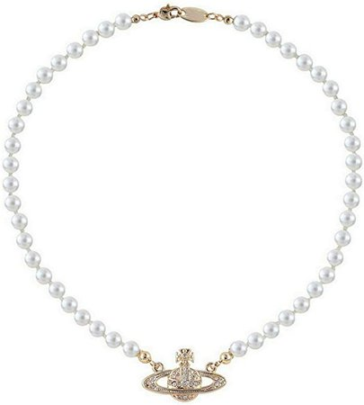 Amazon.com: FENLDY Rhinestone Faux Planet Saturn Pearl Necklace for Women Jewelry, Fake Pearl Collar Pendant a Necklace Men with Charm for Girls Y2k Jewelry Ladies' Wedding Pearl Bead Chain Crystal Choker Gold: Clothing