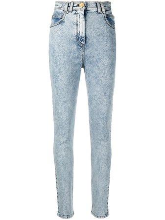 Balmain Acid Wash Skinny Jeans - Farfetch