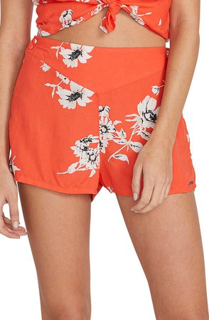 I Stay You Go Floral Shorts