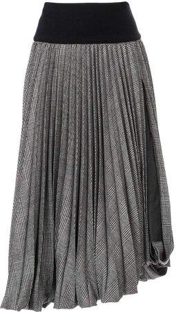 tartan patterned pleated skirt