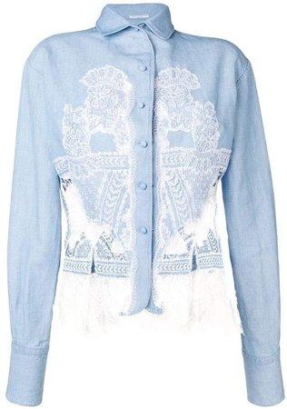 denim lace shirt