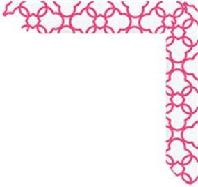 Raspberry Pink Frame Corner