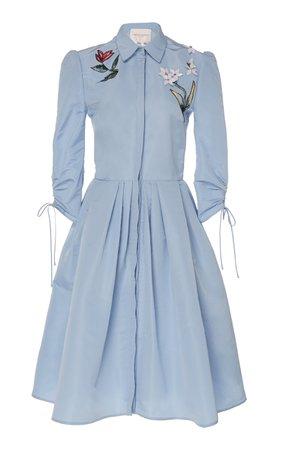 large_carolina-herrera-blue-embroidered-silk-shirt-dress.jpg (1598×2560)