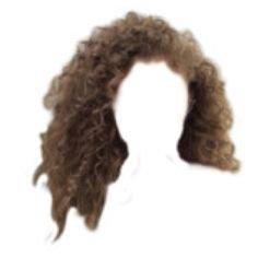 png hair brown curly