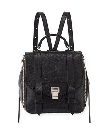 Proenza Schouler PS1 Zip Paper Leather Backpack   Neiman Marcus