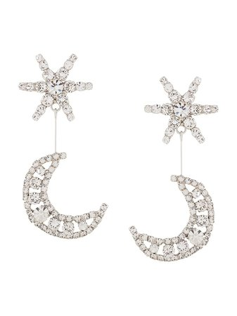Jennifer Behr Leonida Crystal Embellished Earrings - Farfetch