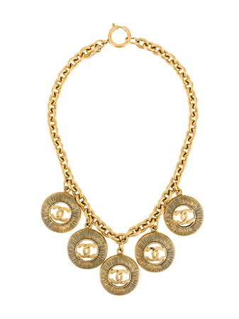 Chanel Pre-Owned 1980S Cc Charm Necklace NL023247 Gold | Farfetch