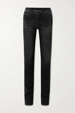 Alison Mid-rise Skinny Jeans - Black