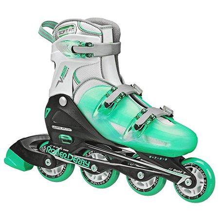 Roller Derby Women's V-Tech 500 Button Adjustable Inline Skate : Sports & Outdoors