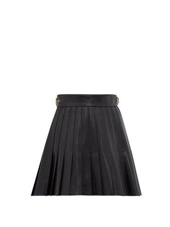 GUCCI  Pleated leather mini skirt