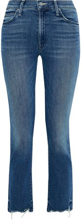 The Rascal Cropped Frayed High-rise Skinny Jeans