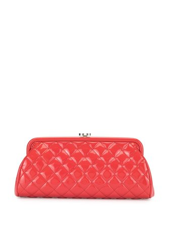 Chanel Pre-Owned 2015's Quilted Cc Clutch Party Handbag Vintage   Farfetch.com