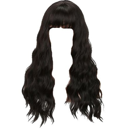 hair with bangs