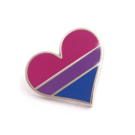 Bisexual pride pin gay lapel pin bisexual flag pin heart