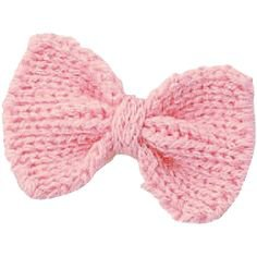 Handmade Pink Knitted Ribbon Bow Decoration Part ($1.53) ❤ liked on Polyvore featuring fillers, bows, pink fillers, accessories and pink