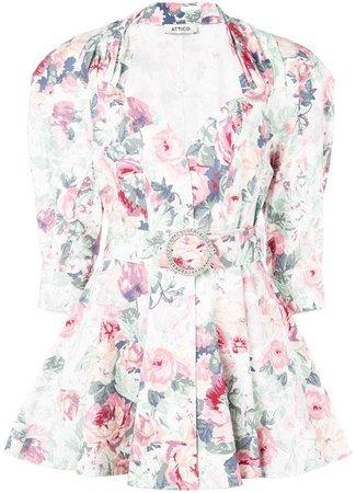 structured shoulder mini dress