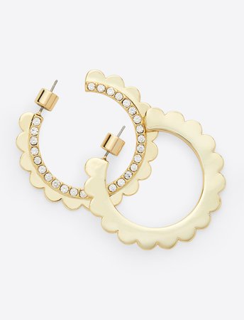 Crystal Scallop Hoop Earring – Draper James