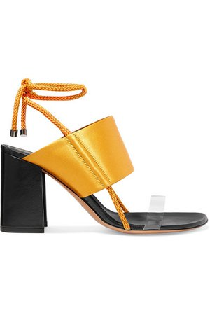Dries Van Noten | Satin and PVC sandals | NET-A-PORTER.COM