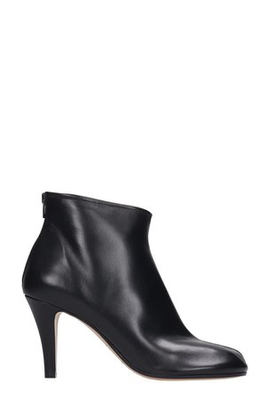 Maison Margiela High Heels Ankle Boots In Black Leather