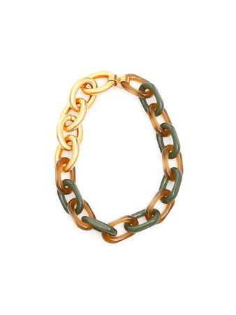 Marni Marni Chain Necklace - GOLD (Green) - 11153089 | italist