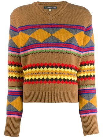 Alexa Chung Geometric Knit Sweater | Farfetch.com