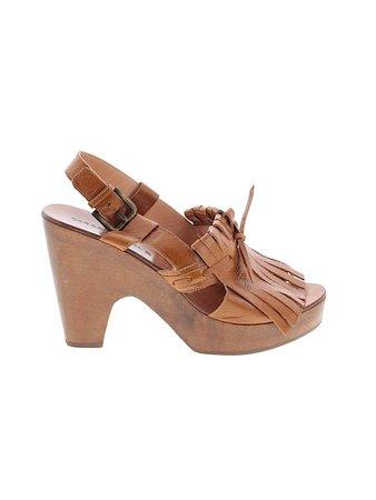 Gerard Darel 100% Leather Solid Brown Mule/Clog Size 38 (EU) - 20% off | thredUP