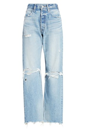 MOUSSY Vintage Odessa Ripped Straight Leg Jeans | Nordstrom