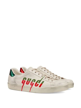 Gucci Ace Distressed Sneakers - Farfetch