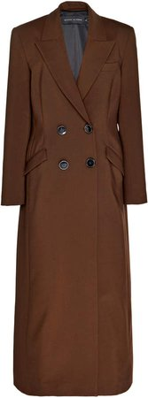 Michael Lo Sordo Wool Maxi Trench Coat Size: 4