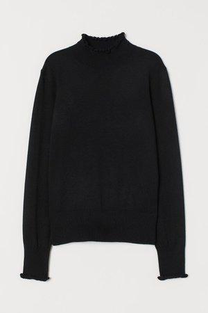 Fine-knit Sweater - Black - Ladies | H&M US