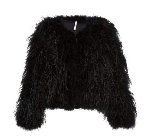 Product image Product image Product image Pro   Alcoolique Shelly Marabou Fur Jacket