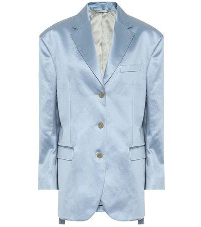 Acne Studios - Cotton-blend satin blazer | Mytheresa