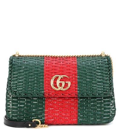 Wicker Shoulder Bag   Gucci - mytheresa