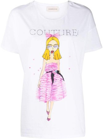 graphic-print cotton T-shirt