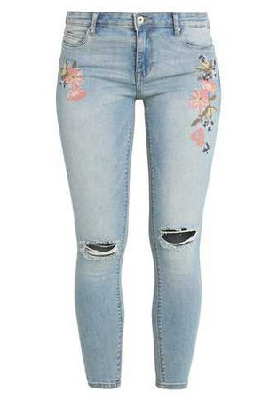 ONLY ONLCARMEN CRY - Jeans Skinny Fit - light blue denim - Zalando.co.uk