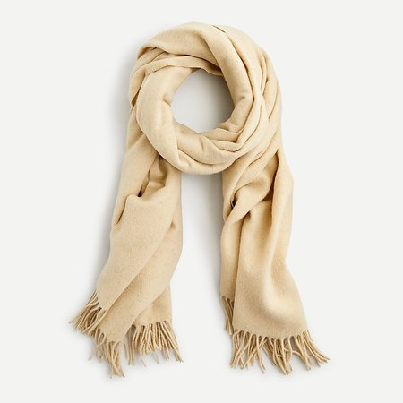 J.Crew: Fringed Scarf In Speckled Wool For Women