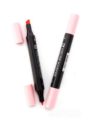 Double-end Marker Pen C(Light Pink) | Miniso