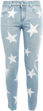 Printed Low-rise Skinny Jeans