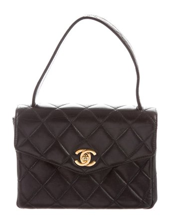 CHANEL VINTAGE LAMBSKIN TOP HANDLE BAG
