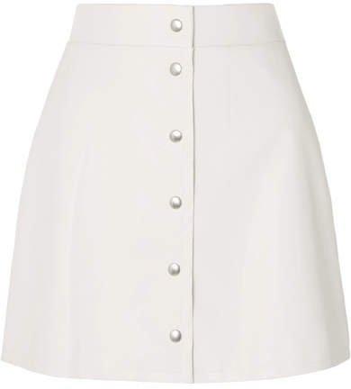 Faux Leather Mini Skirt - White