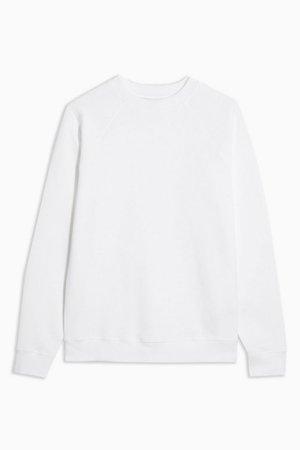 White Everyday Sweatshirt   Topshop white