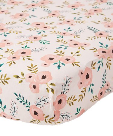 Lolly Gags Blush Rose Cotton Crib Sheet | zulily