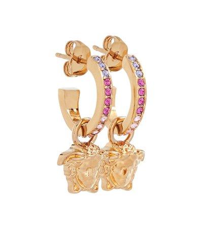 Versace - La Medusa crystal-embellished earrings | Mytheresa