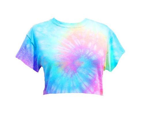 Pastel Tie-Dye Crop Top