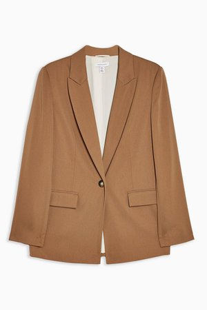 Tan Soft Single Breasted Suit Blazer | Topshop