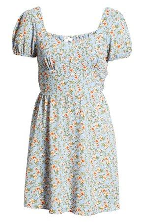BP. Sweetheart Floral Minidress | Nordstrom