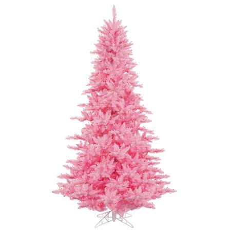 Vickerman 6.5' Light Pink Fir Artificial Christmas Tree, Pink Dura-lit Incandescent Lights