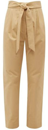 Kinabalu Cotton Twill Trousers - Womens - Brown