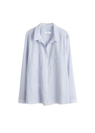 Violeta BY MANGO Swiss tulle shirt